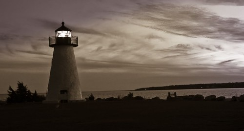 sunset lighthouse night neds thesuperbmasterpiece matapoisett