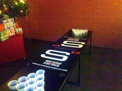professional beer pong table! (who knew) LOL