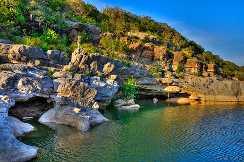 cactus color reflection nature water rock river day texas hiking tx clear hdr pedernales pedernalesriver yucca swimminghole texashillcountry pedernalesstatepark texasstatepark pedernalesfallsstatepark photomatix 3exp capturenx2 oxherder