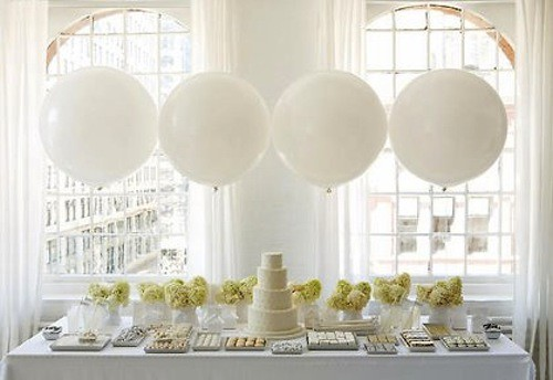 White Balloon Dessert Buffet-Amy Atlas