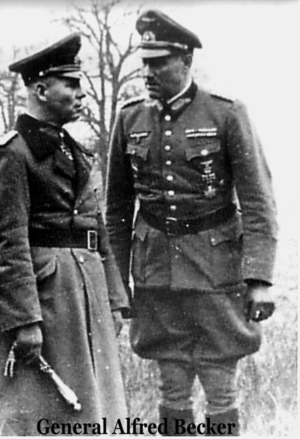 Field Marshal Rommel & General Alfred Becker-France Spring 1944