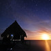 The Moon Rising Over the Sea, Our Hut Under the Stars. by David M Hogan