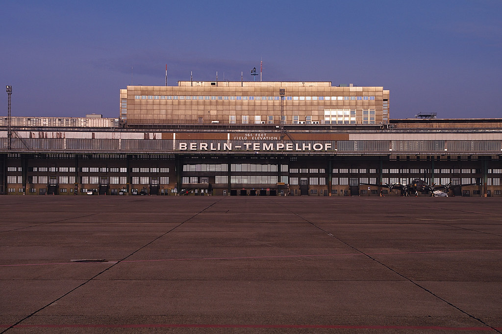the abandoned 1920s iconic berlin airport is now the city 39 s largest park. Black Bedroom Furniture Sets. Home Design Ideas