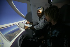 Sam Branson is briefed for his training. Credit Mark Greenberg