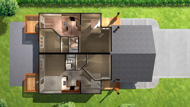 Ironwolf duplex basement floor plan flickr photo for Duplex house plans with basement