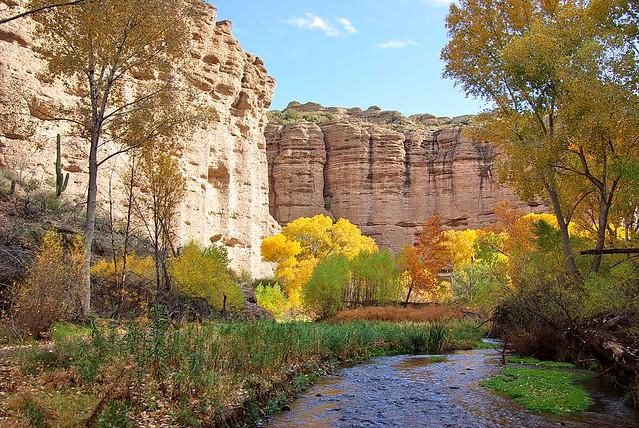 Aravaipa Canyon east end - Autumn colors