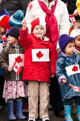 Liam, waving his flag