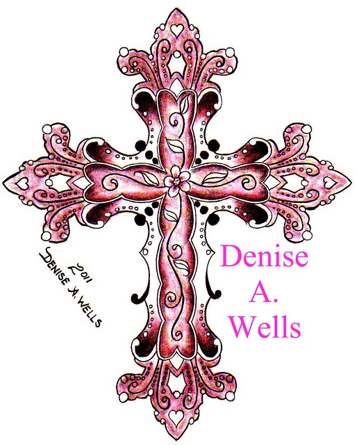 Lace Cross Drawing 2011 Cross Tattoo by Denise a