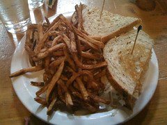 turkey reuben and fries