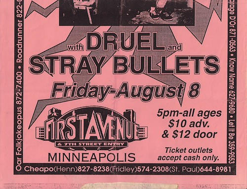 08/08/97 Suicidal Tendencies/Druel/Stray Bullets (Flyer)(Bottom)