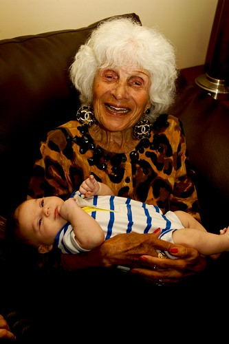 Grandma Bertha with her Great, Great Grandson Eli Kaplan