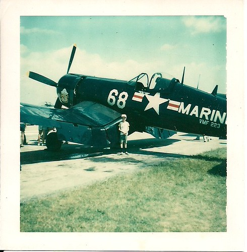 August 1980 - In Front of Pappy Boyington's Corsair Fighter Plane