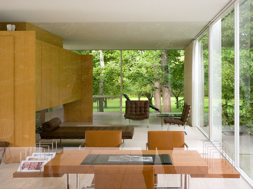 white house glass architecture modern river illinois flood steel interior fox farnsworth plano van travertine der mies minimalist modernist rohe