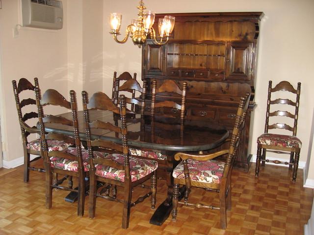 bennington pine dining room set flickr photo sharing pine hill warm rustic pine extendable rectangular dining
