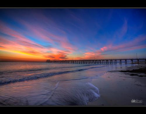 ocean sunset seascape seaweed reflection clouds canon sand waves jetty australia wideangle adelaide southaustralia hdr highdynamicrange grange 1740 3xp photomatix grangejetty canon5dmkii 5dmkii