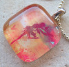Whimsical Fairy-Large Glass Pendant with Ball Chain Necklace by BeansThings