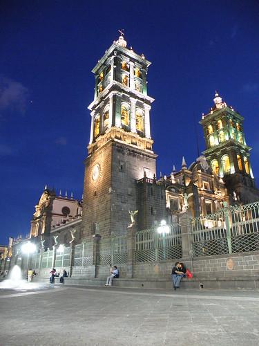 """P9230103 Recorrido Nocturno Centro Histórico de Puebla """"Catedral"""" por LAE Manuel Vela"""