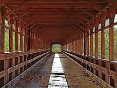 Inside of Ohio's Longest Covered Bridge