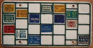 1974 TRUCKER'S BINGO BOARD PLATE for POWER UNIT