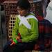Sitting Patiently - Otavalo Market, Ecuador