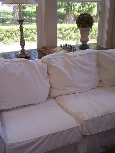 the pottery barn basic slipcovered sofa saga confessions the inspired room. Black Bedroom Furniture Sets. Home Design Ideas
