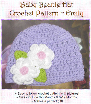 Free Crochet Pattern - Crazy Cute and Easy Baby Cap from the Baby