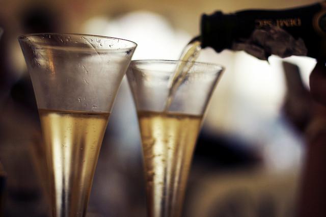 Happy Champagne Wedding Bokeh Wednesday