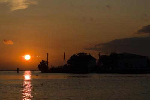 sunset sky sun water clouds louisiana warm olympus lafitte bayou zuiko oly e510 zd 1454mm