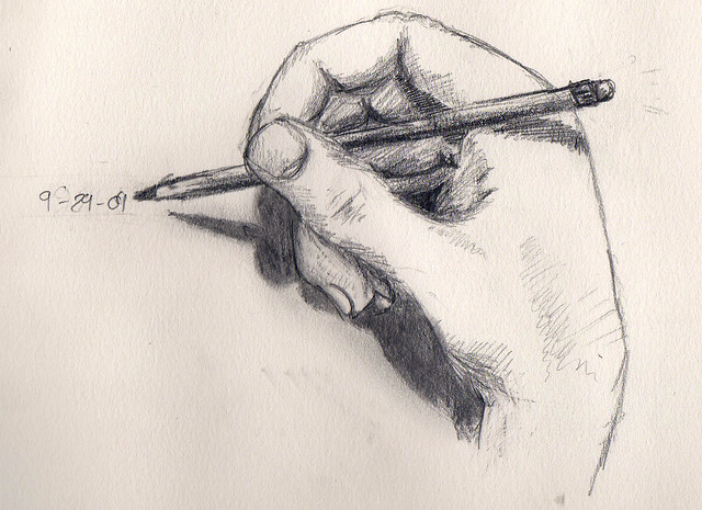 drawing hand from Flickr via Wylio