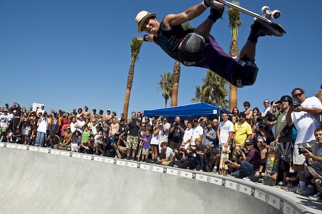 Christian Hosoi @ Venice Beach Skate Plaza on October 3, 2009
