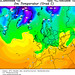 předpovědní mapa teplot pro 10. prosince 2009 - zdroj: Wetterzentrale.de