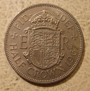 GREAT BRITAIN, ELIZABETH II, 1967 ---HALF CROWN a