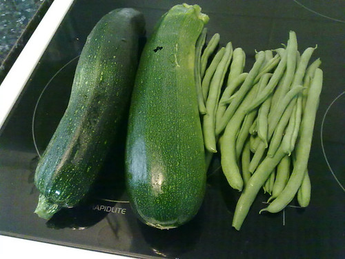 Courgettes and French Beans