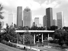 Sabine St. Bridge over Buffalo Bayou, Houston, Texas 0629091647BW