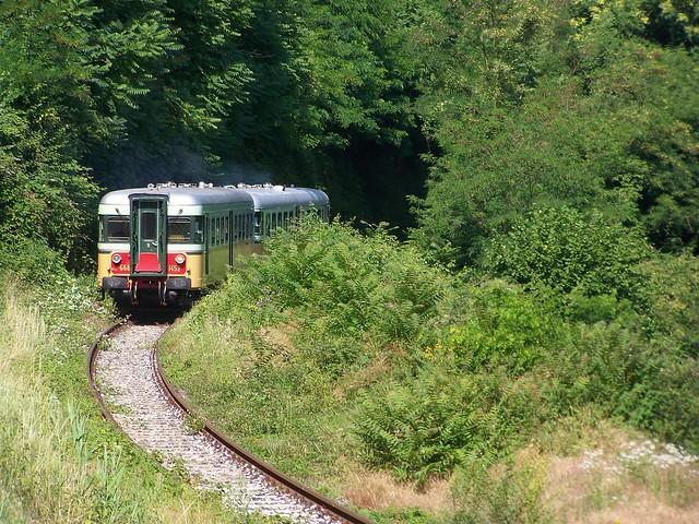 Trenoblu in livrea storica a Capriolo