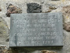 Photo of Dolly Pentreath black plaque
