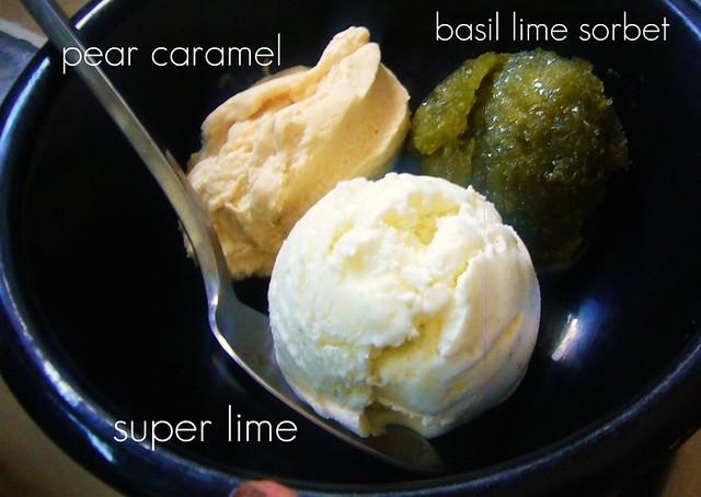 Pear Caramel, Super Lime, Basil Lime sorbet   Flickr - Photo Sharing!