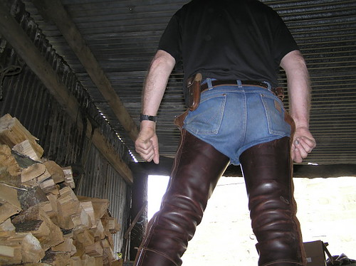 wrangler cowboy cut jeans with chaps