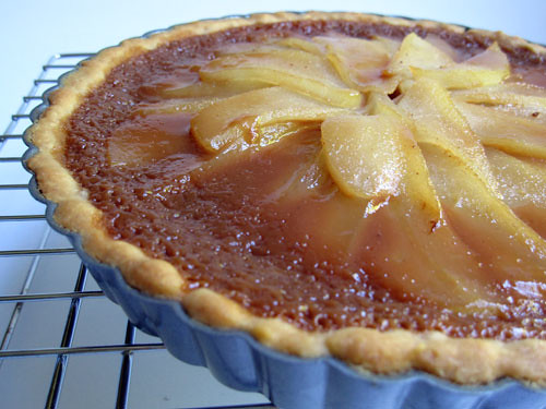 caramel-pear tart with a graham shortbread crust | Flickr - Photo ...