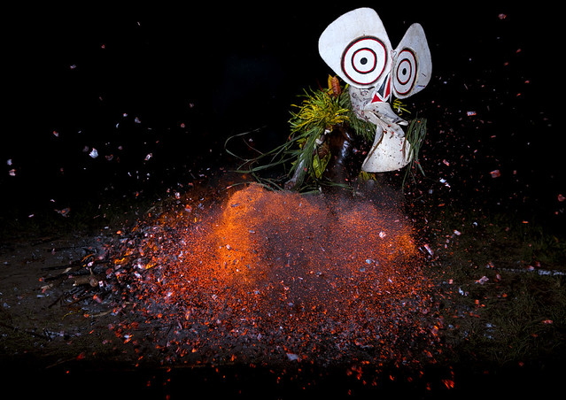 Baining fire dance in East New Britain  - Papua New Guinea