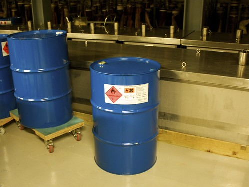 Flammable barrels