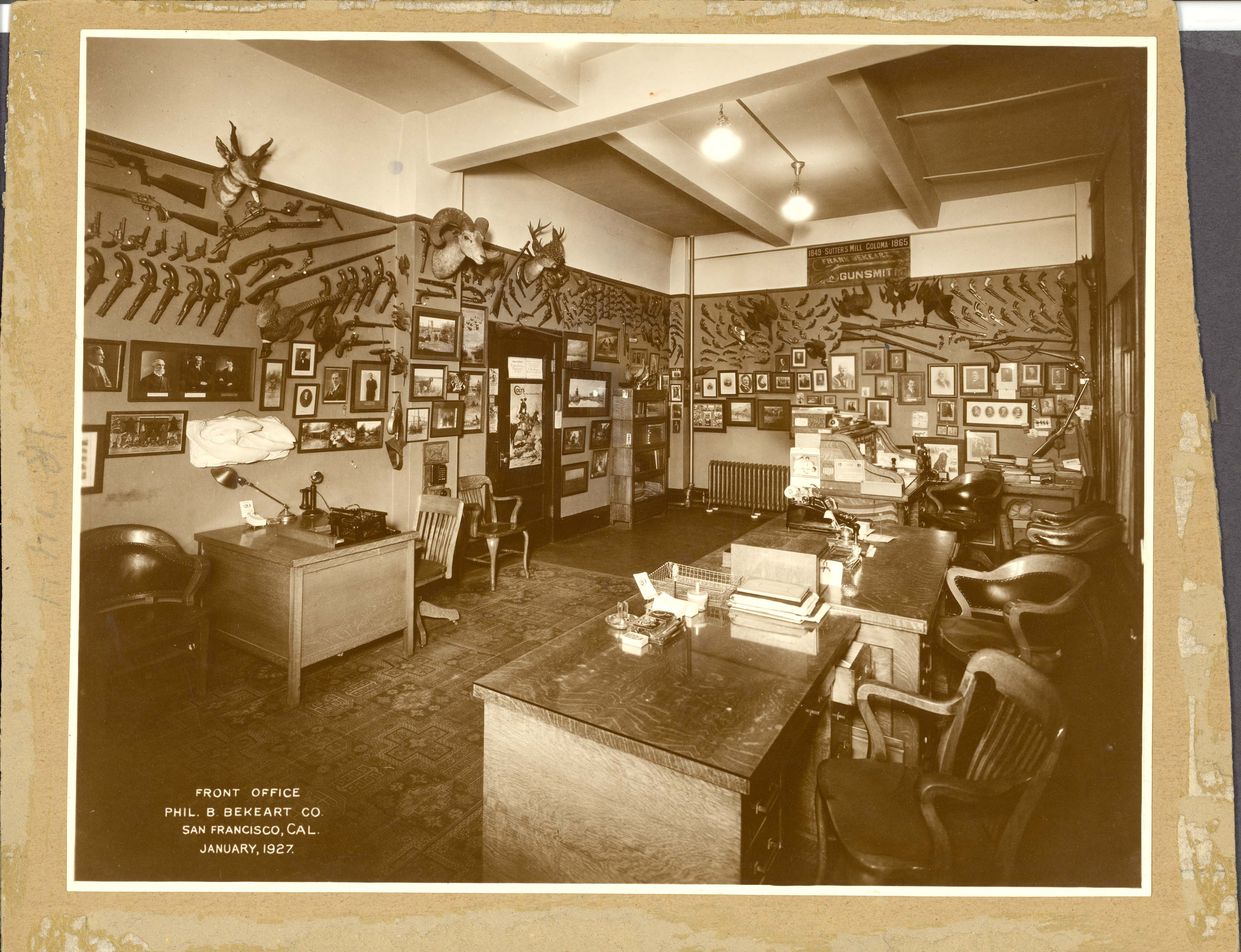 Phil B. Bekeart Co., front office | A full view of the front ...