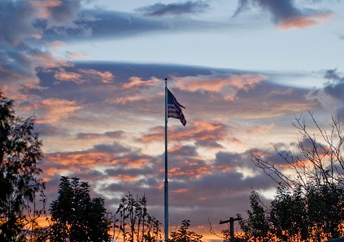 oregon america sunrise flag