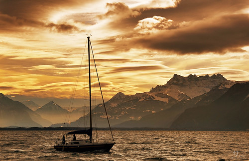 Golden time in Vevey