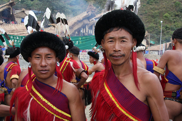 Angami Tribe At The Hornbill Festival Nagaland