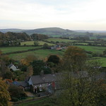 Views of the countryside from next to Gold Hill - Shaftesbury, Dorset, South West England