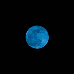 'New Year's Blue Moon' by FrozenInLight