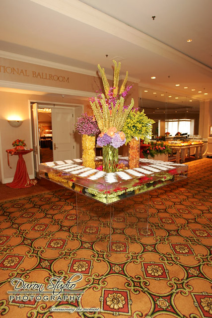 Place Card Table Wedding Reception in the Int 39l Ballroom The Fairmont