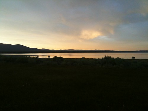 sunset lake eagle eyefi
