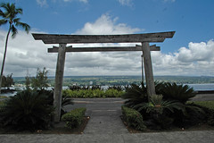 Liliuokalani Garden Torii - Bay Background